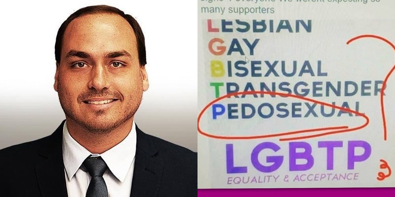 Carlos Bolsonaro associa LGBTs a pedófilos em tweet asqueroso