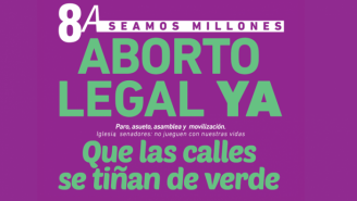 Que as ruas se tinjam de verde pelo aborto legal
