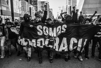 Veja fotos exclusivas da manifestação Antifascista e Antirracismo reprimida no último domingo na Av Paulista