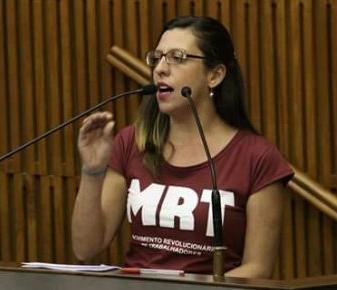 """""""Sob paralisia dos sindicatos, Doria quer aprovar fim das nossas aposentadorias"""", diz Professora Maíra"""