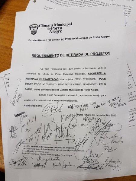 Força da greve leva maioria da Camara a pedir a retirada dos projetos de Marchezan