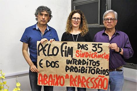 Deputado Carlos Gianazzi e diretores da ADUNESP se posicionam contrários à repressão na UNESP de Marília