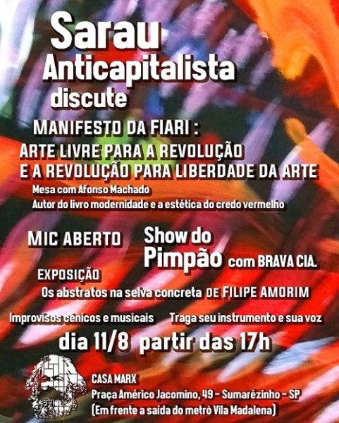 Sarau Anticapitalista discute Manifesto da FIARI