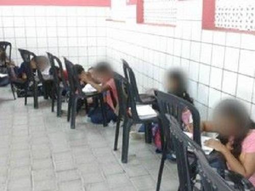 Sem estrutura para os alunos voltam as aulas em Fortaleza