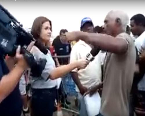 VÍDEO: Rede Globo corta morador de Mariana que denunciava Vale
