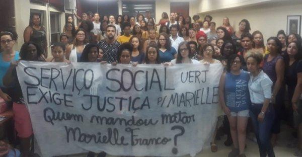 Estudantes do Serviço Social da UERJ vão paralisar no dia 14 por justiça para Marielle