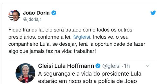 Dória comemora antes da hora e transferência de Lula é cancelada