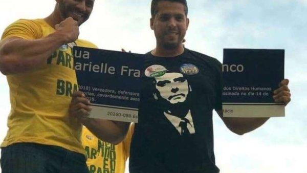 Filho de Bolsonaro defende os destruidores de placa em homenagem à Marielle Franco