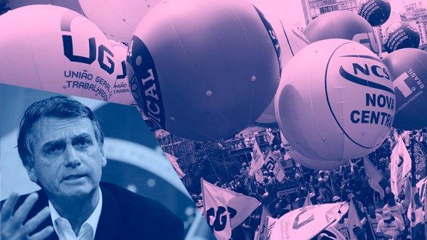 """Centrais sindicais assinam carta de """"respeito"""" a Bolsonaro, maior inimigo dos trabalhadores"""