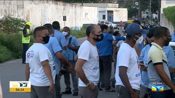 Centenas de rodoviários protestam contra ataques de empresários e da justiça na Grande São Luís