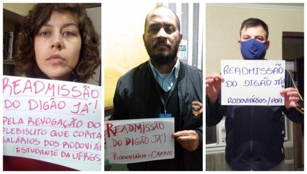 Demissão política de rodoviário em Porto Alegre gera campanha com apoio de dezenas