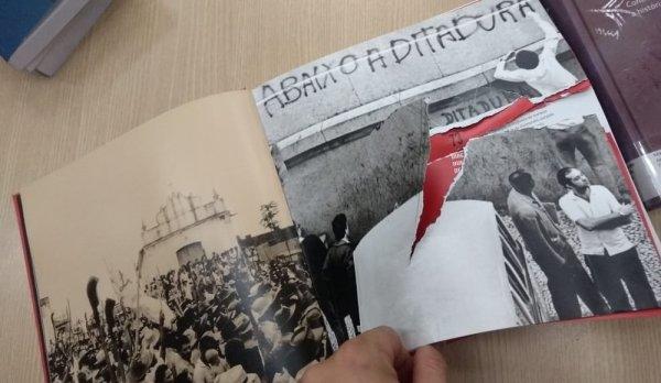 Livros com imagens de luta contra a ditadura são rasgados na biblioteca da UnB