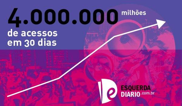 Esquerda Diário chega a 4 milhões de acessos na batalha contra Bolsonaro, o golpismo e as reformas