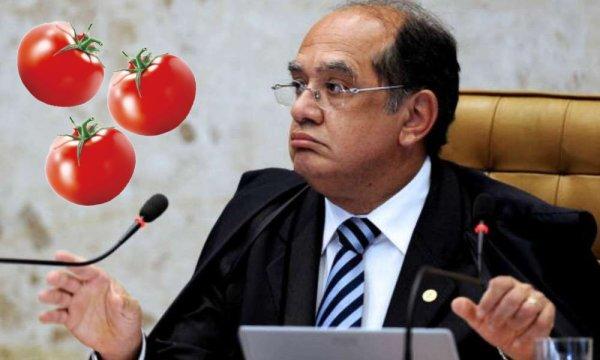 PF investiga grupo que pagava R$300 para quem acertasse tomate no ministro Gilmar Mendes
