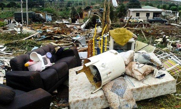 Tornados atingem três cidades em Santa Catarina