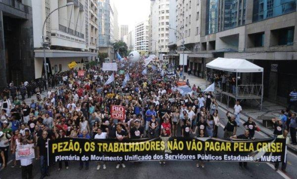 Sem pagamento servidores irão ao Palácio Guanabara cobrar o Pezão