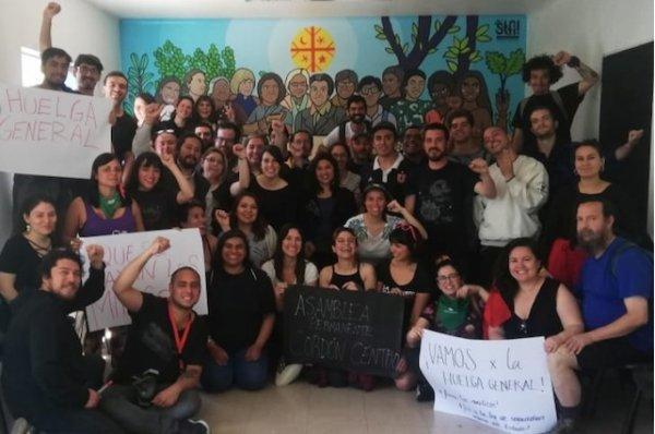 Exemplo a seguir: sindicato da GAM organiza Cordão Centro, impulsionando a auto-organização no Chile
