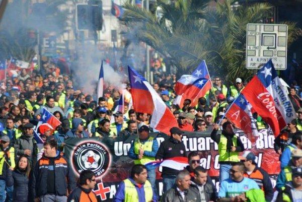 Chile: portuários em pé de guerra, 20 portos paralisados nesta segunda