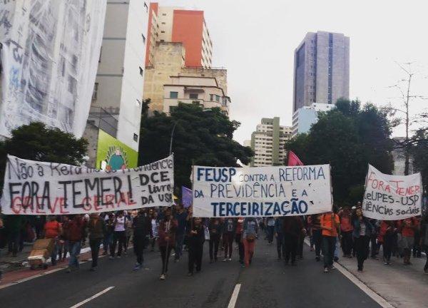Estudantes da USP rumo ao 28 de abril: as batalhas que precisamos dar para construir uma greve geral efetiva