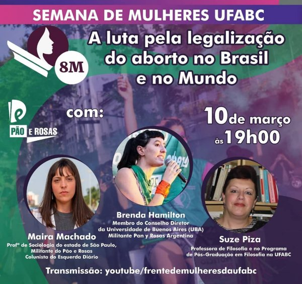 Pão e Rosas realiza mesa sobre legalização do aborto na UFABC