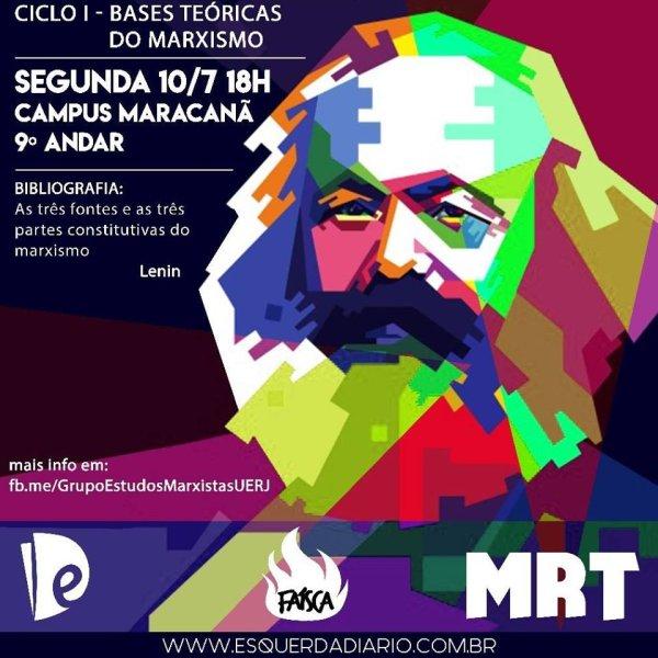 Começa hoje o Grupo de Estudos Marxistas da UERJ