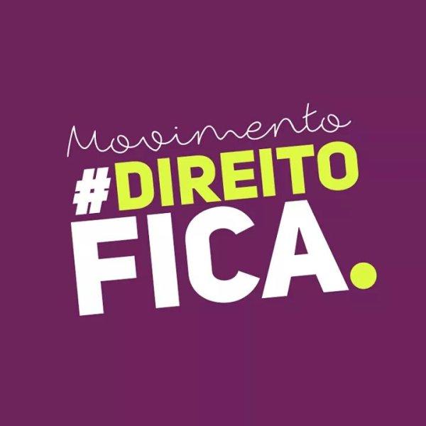 """Manifesto do """"Direito Fica"""" contra a mudança do curso de local"""
