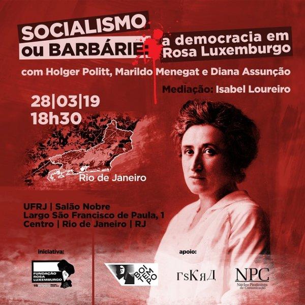 Conheça Rosa Luxemburgo: evento na UFRJ abordará a sua vida revolucionária