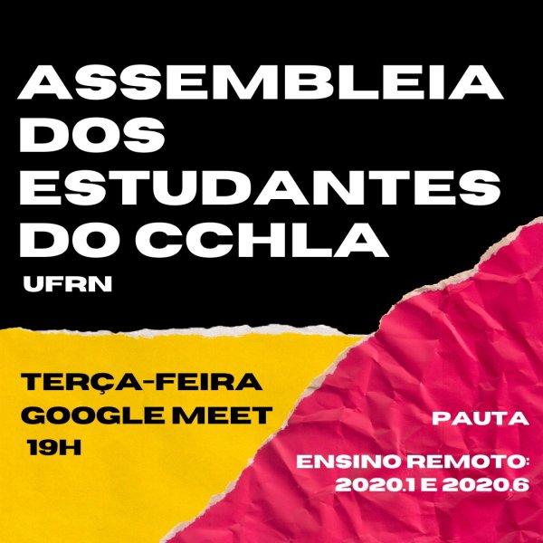 Estudantes do CCHLA-UFRN repudiam propostas de EAD da reitoria e chamam assembleia geral